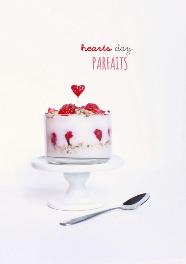 Valentine's Fruit & Yogurt Parfaits