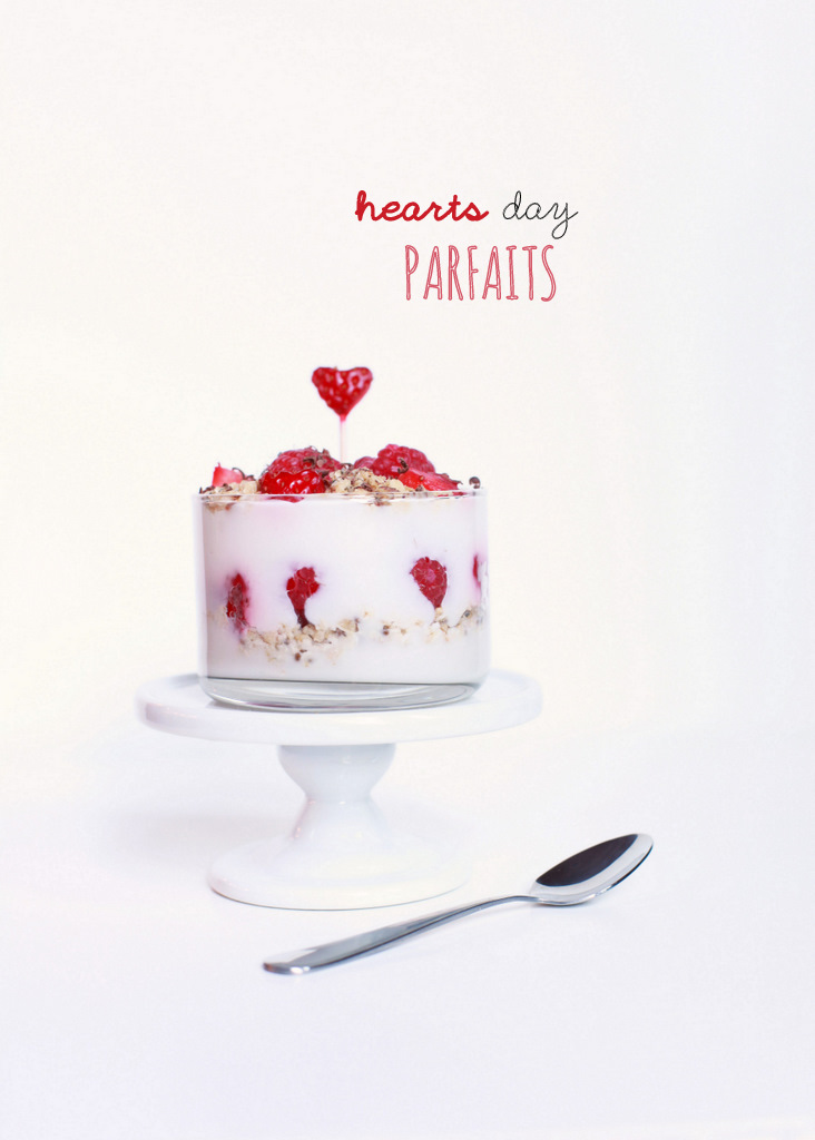 Valentine's fruit and yogurt parfaits- vegan with fresh berries-Vegan | Posh Little Designs
