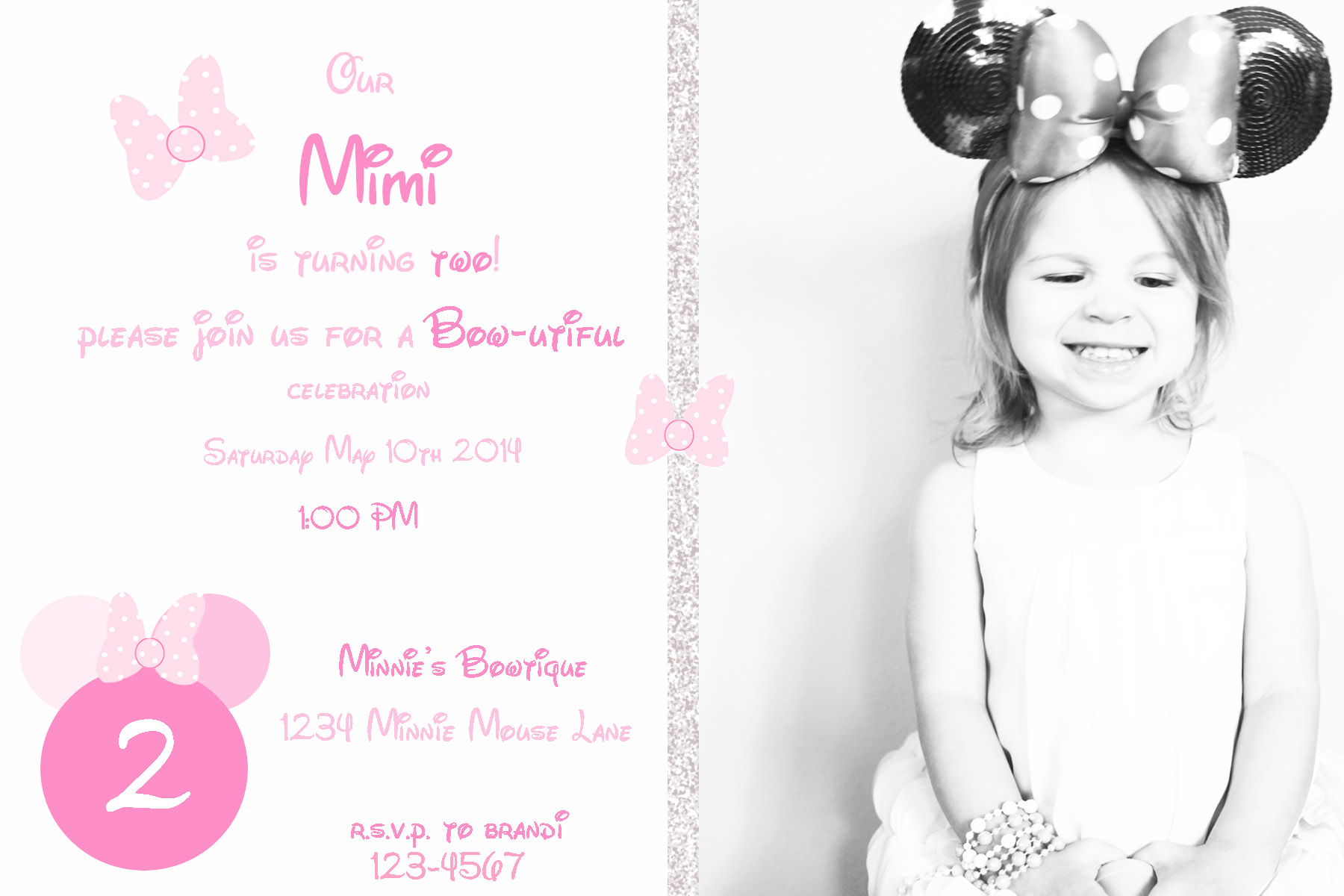 Minnie Invites - Posh Little Designs