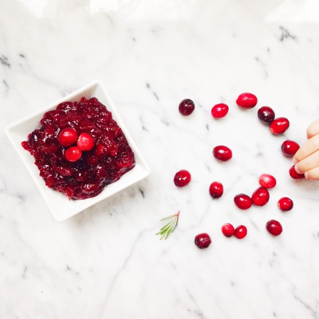 Homemade Cranberry Sauce | Posh Little Designs