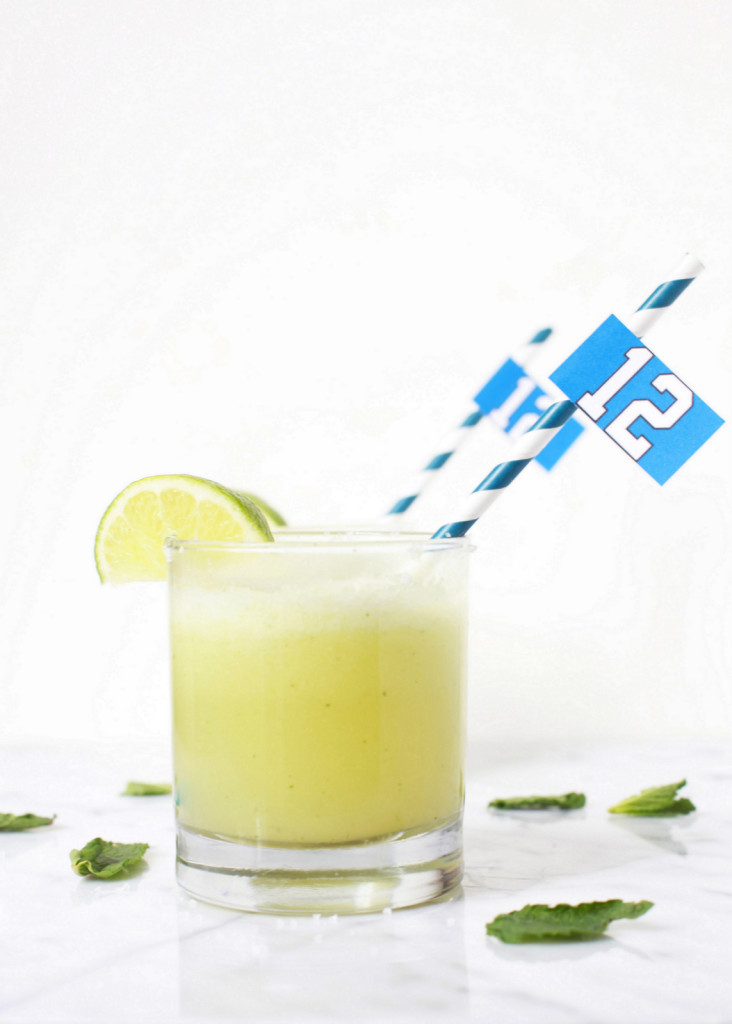 Melon Mint Margaritas - Drink Recipes | Posh Little Designs - Superbowl