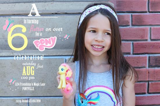 My Little Pony Invite | Posh Little Designs