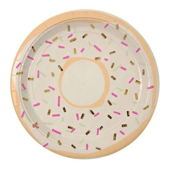 Foiled Doughnut Paper Plates -Meri Meri