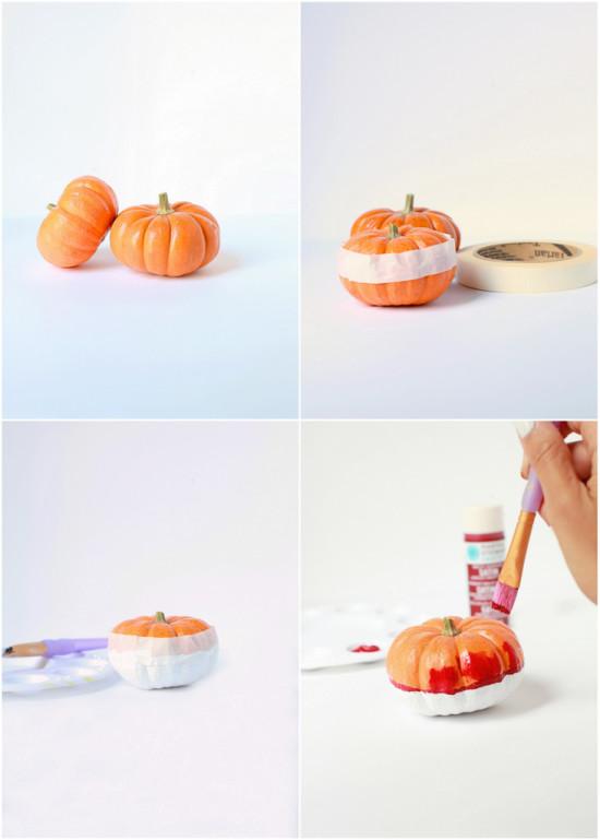 Pantone Mini Pumpkins DIY | Posh Little Designs