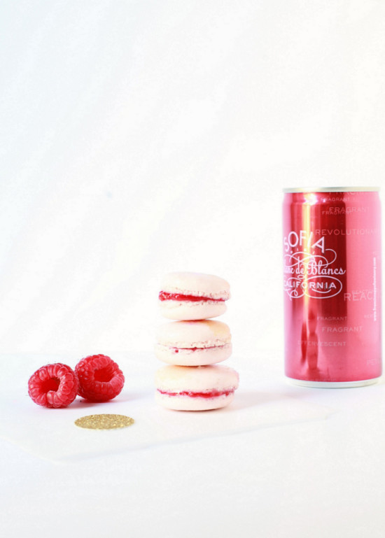 Sparkling Raspberry Macarons | Posh Little Designs
