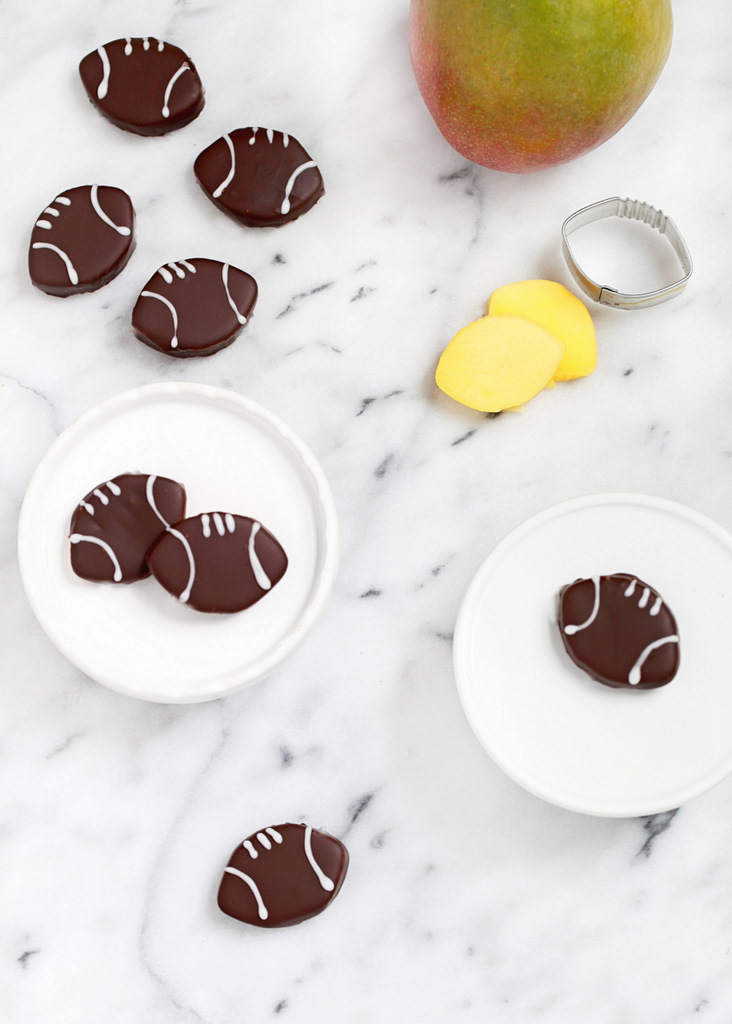 Mini Chocolate Mango Footballs