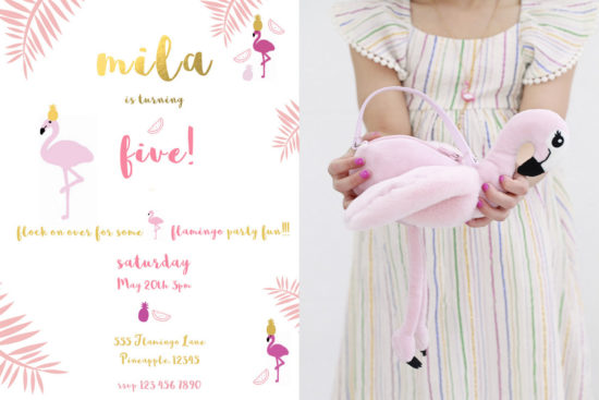 Flamingo Party Invite
