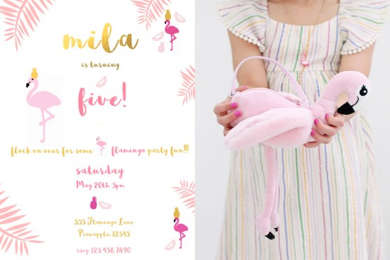 Flamingo Party Invite