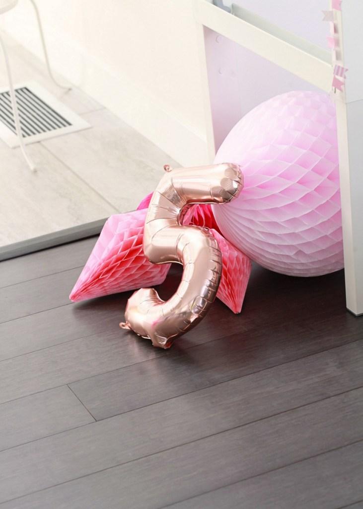 pink party decor birthday