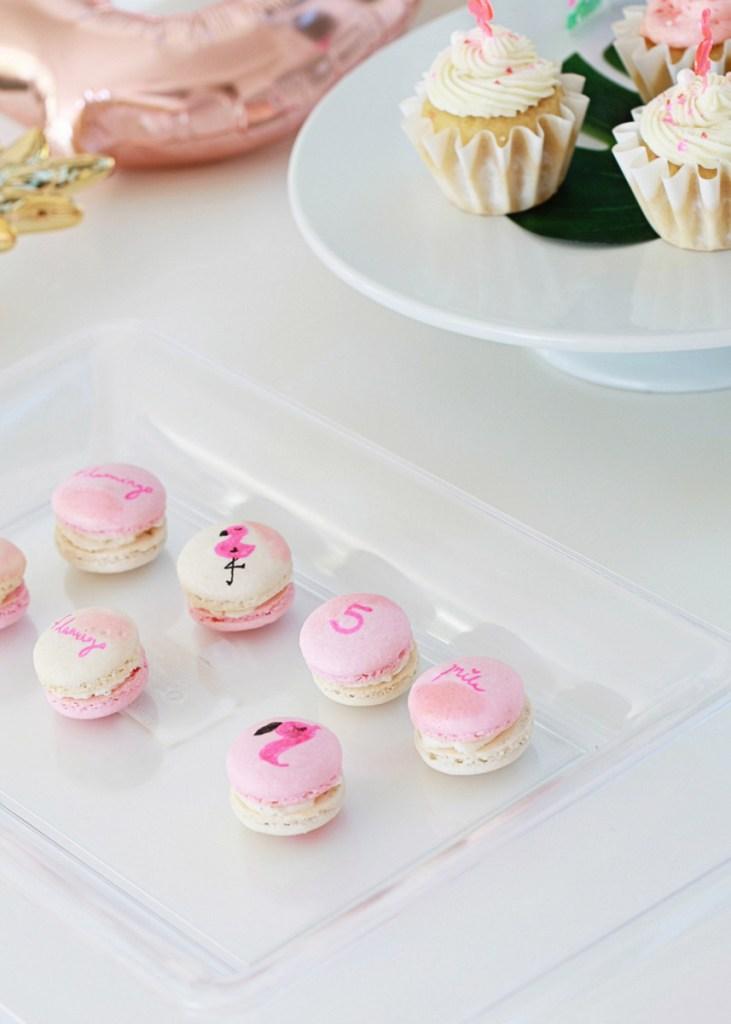 pink flamingo macarons