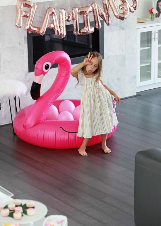 flamingo 5th birthday party float