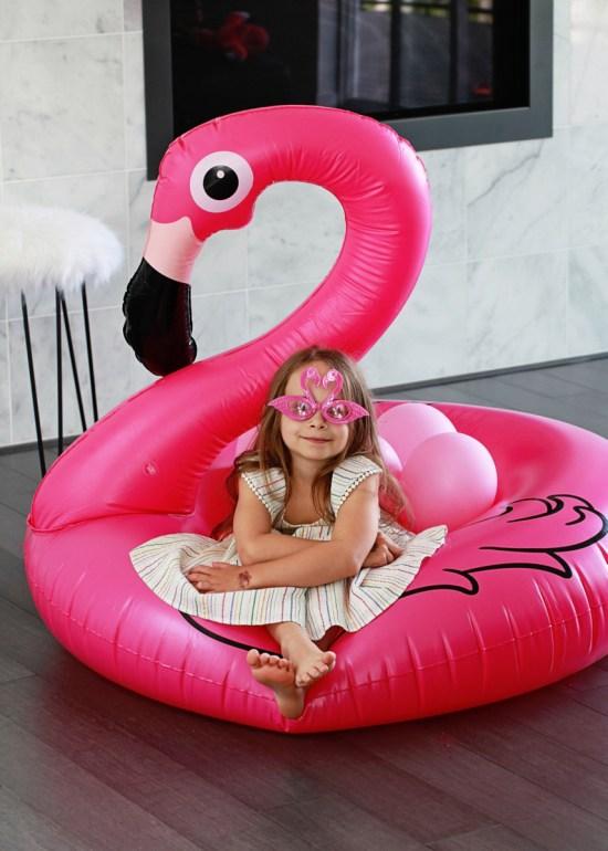 flamingo birthday float sunglasses