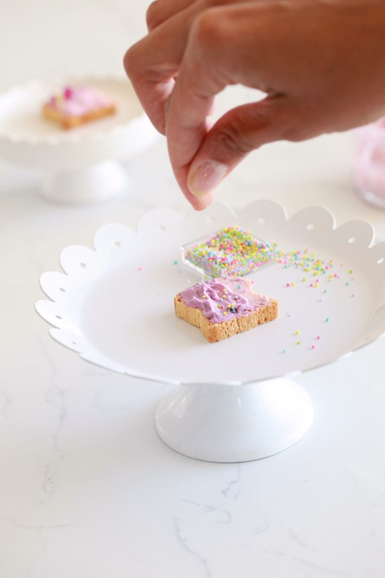 Unicorn toast, party food