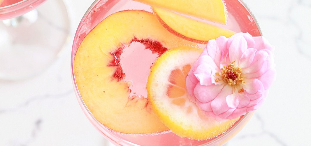 Summer Peach Rosé Sangria