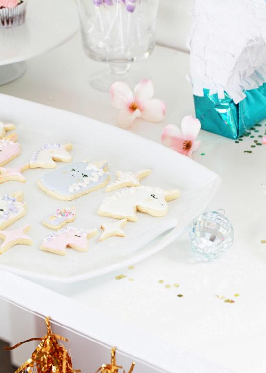 Unicorn Birthday, Party, Cookies