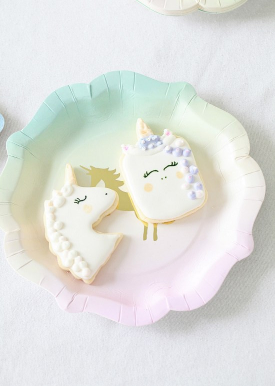 Unicorn Birthday, Party, cake Cookies