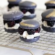 Blackberry Eclipse Macarons