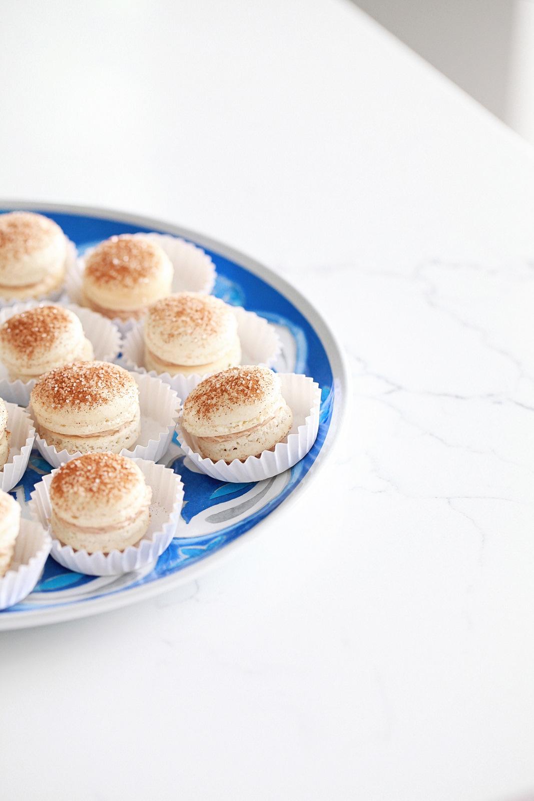 Churro Macarons, Cookies, Recipe