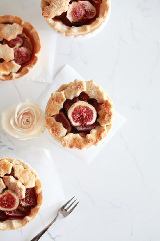 dessert, vegan, fig tartlets