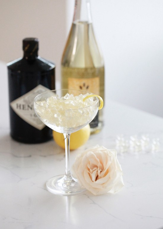 French 75 Gummy Bears, Cocktails, New Years Eve