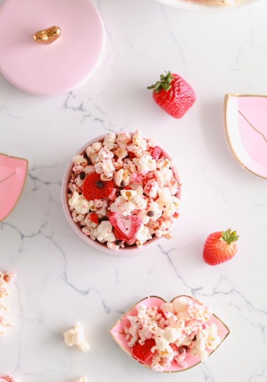 Valentine's Day, Chocolate Strawberry, Popcorn, Vegan
