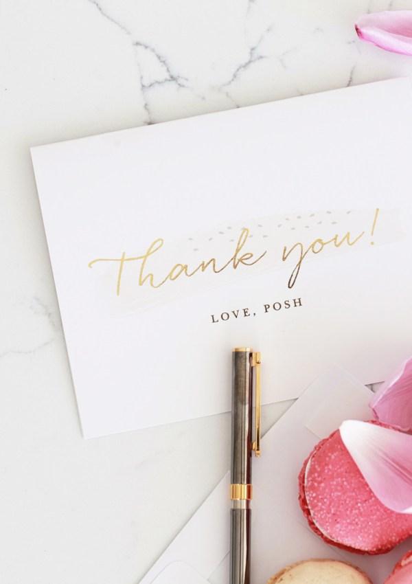 With thanks, Love Posh
