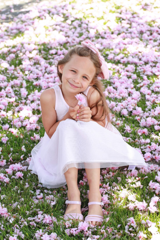 Pink Spring Birthday Photos, Girls, Posh Little Designs
