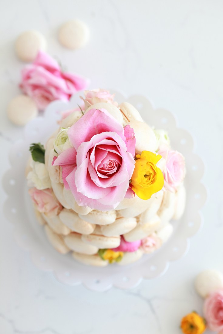French Macaron Tower - DIY - Centerpiece - Weddings - Decor