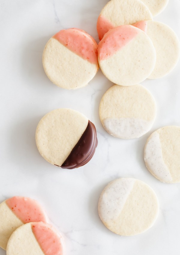 Easy Neapolitan Dipped Sugar Cookies