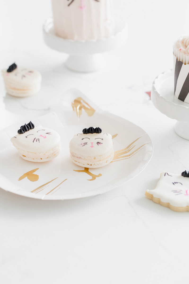 unicorn kitten french macarons - chidlren parties