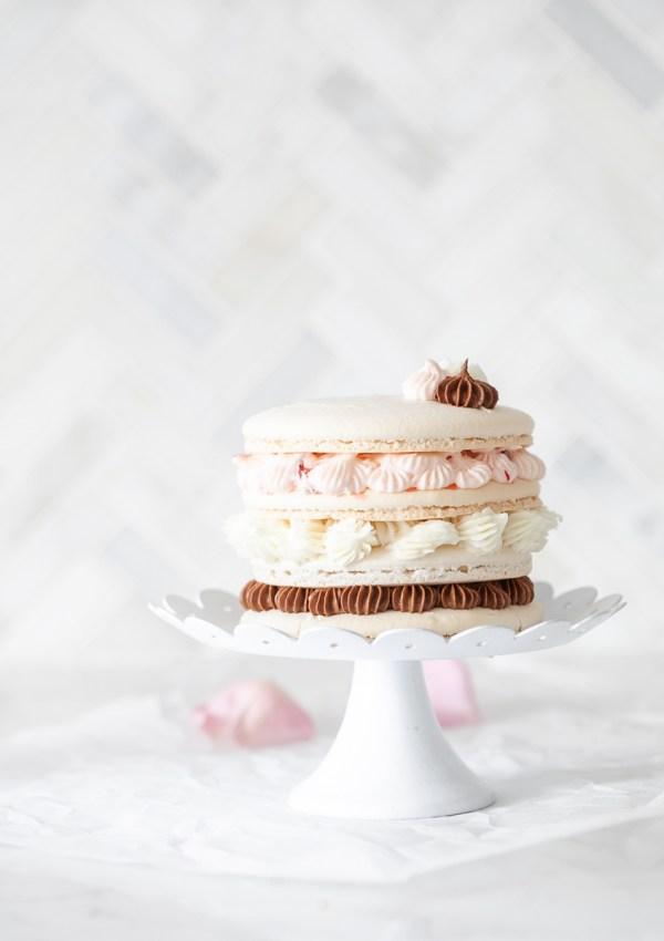 Neapolitan Macaron Cake