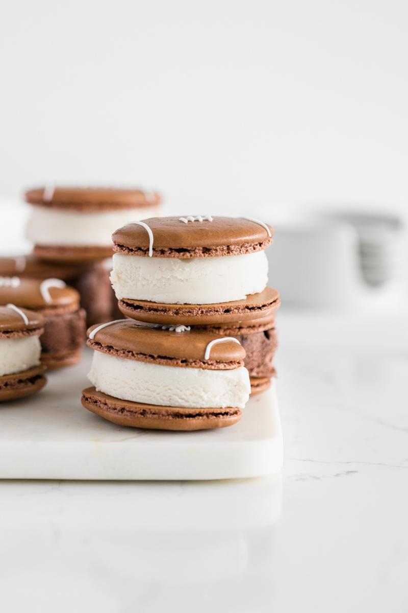 macaron_ice_cream_sandwiches_super_bowl_football_template_recipes_dessert_ideas_