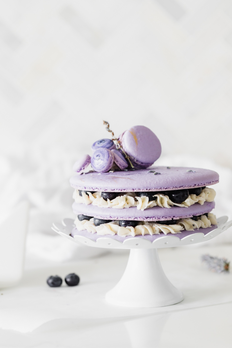 blueberry_lavender_macaron_cake_baking_recipes_summer_gluten_free_dairy_free_macarons_