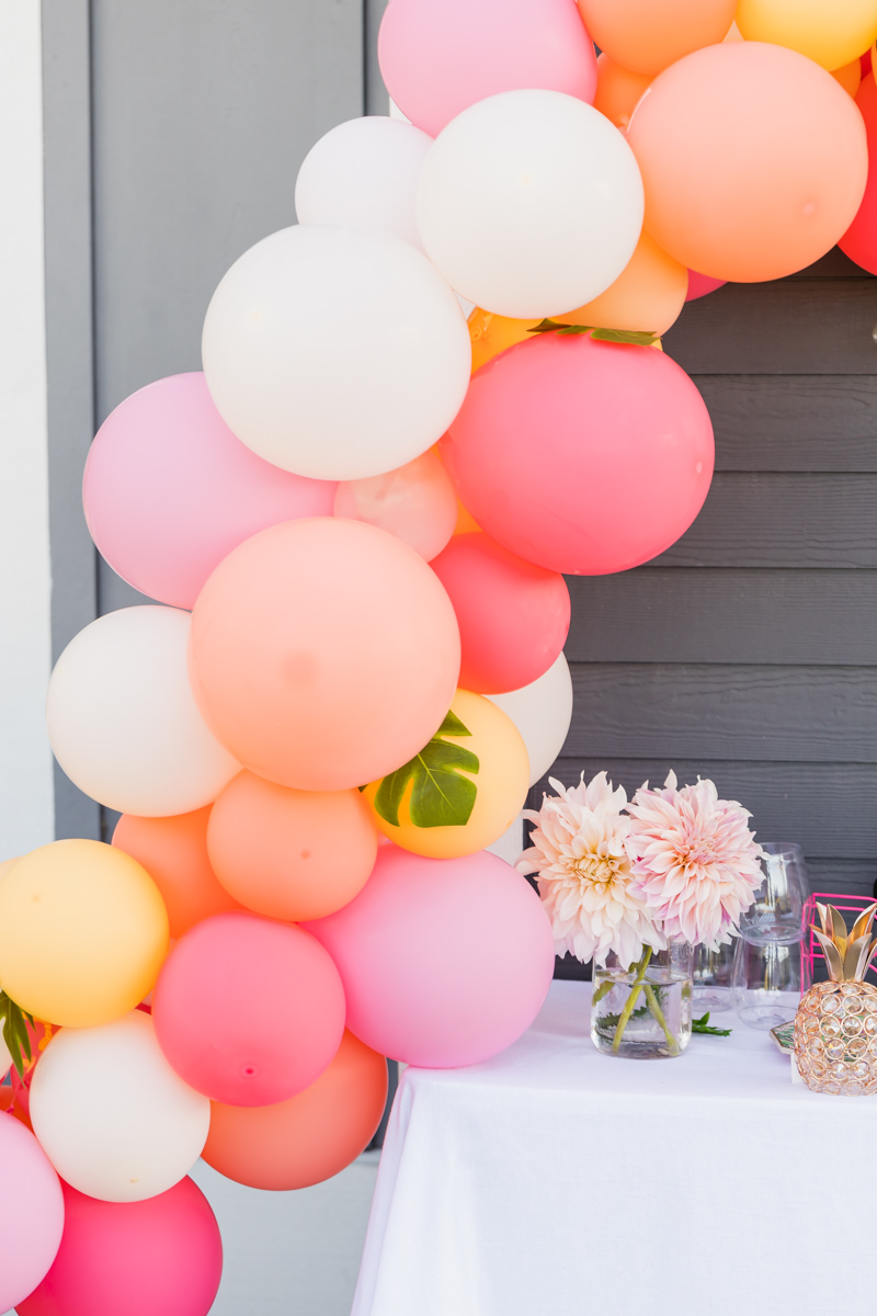 tropical party balloons for social distancing party