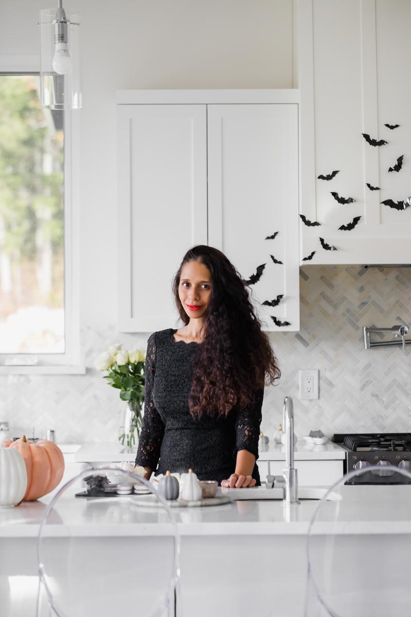 Halloween kitchen decor, bats