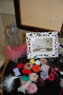 Headband station! Guest made them and Altamese chose her favorite to be the winner!