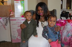 Mommy with her Dapper Dude Ethan and niece Poshette Zoe