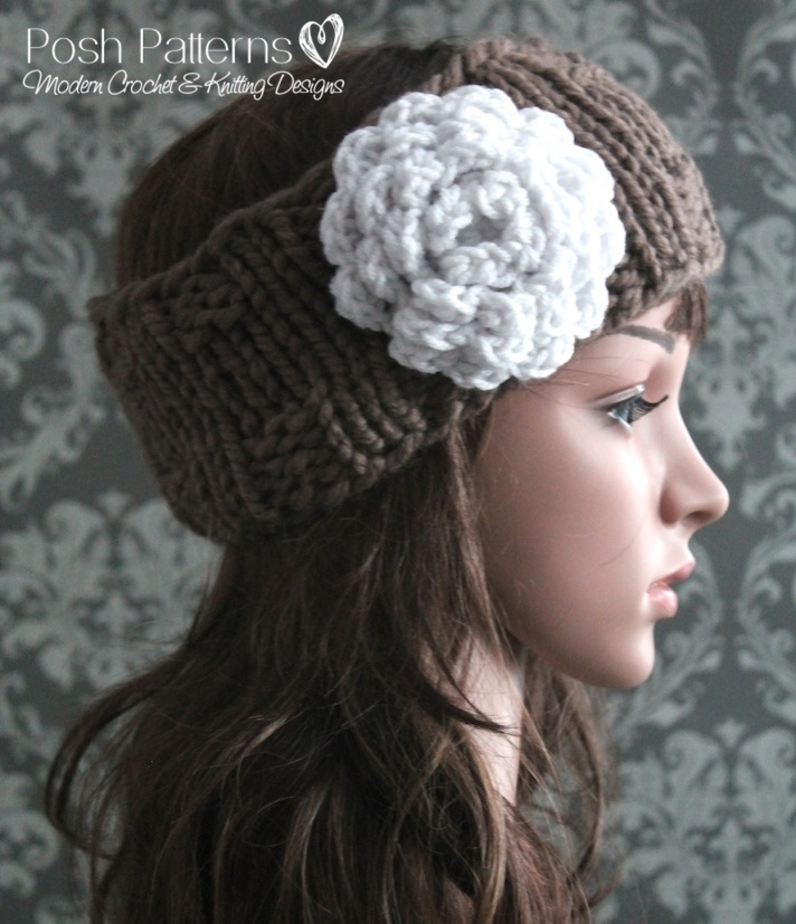 Flowers Knit Ear Warmer