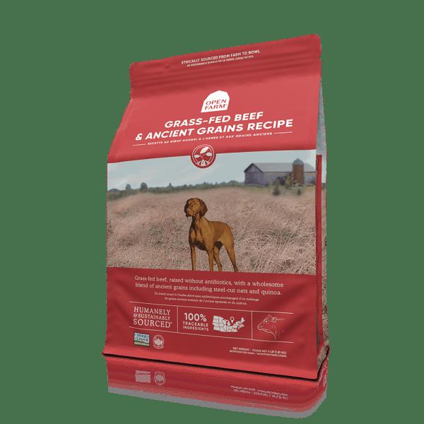 OPEN FARM DOG DRY BEEF RECIPE ANCIENT GRAIN 22# 1