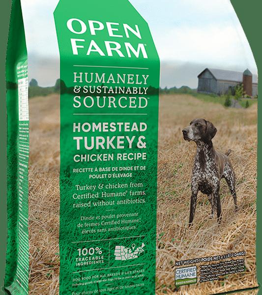 OPEN FARM DOG DRY GRAIN FREE HOMESTEAD TURKEY & CHICKEN 24# 1