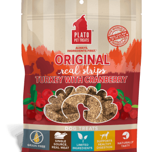 Plato Real Strips Turkey With Cranberry Meat Bar Dog Treats 3 OZ