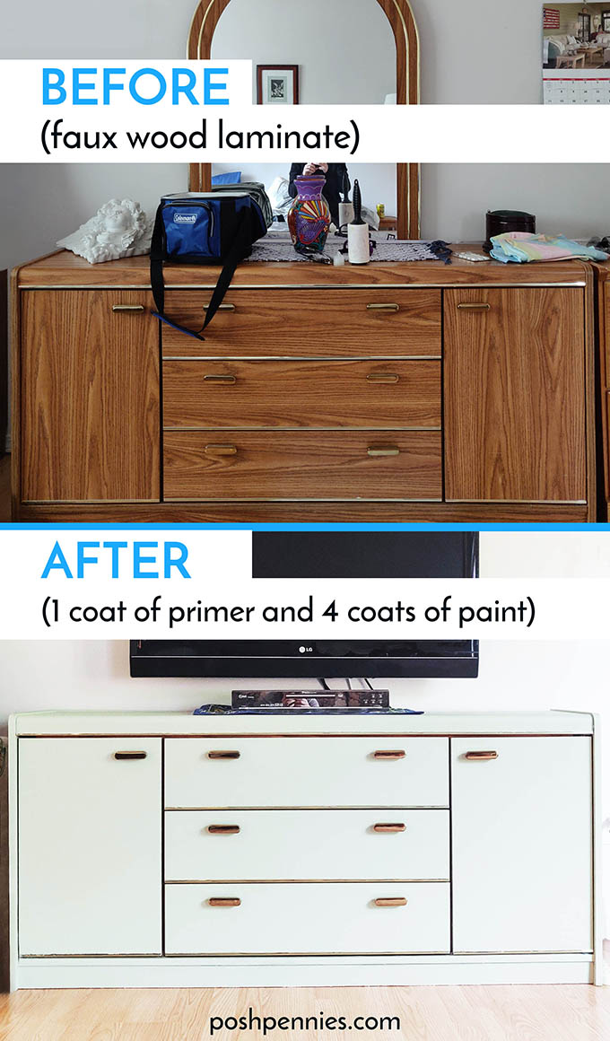 How To Paint IKEA Furniture laminate, solid wood and metal ...