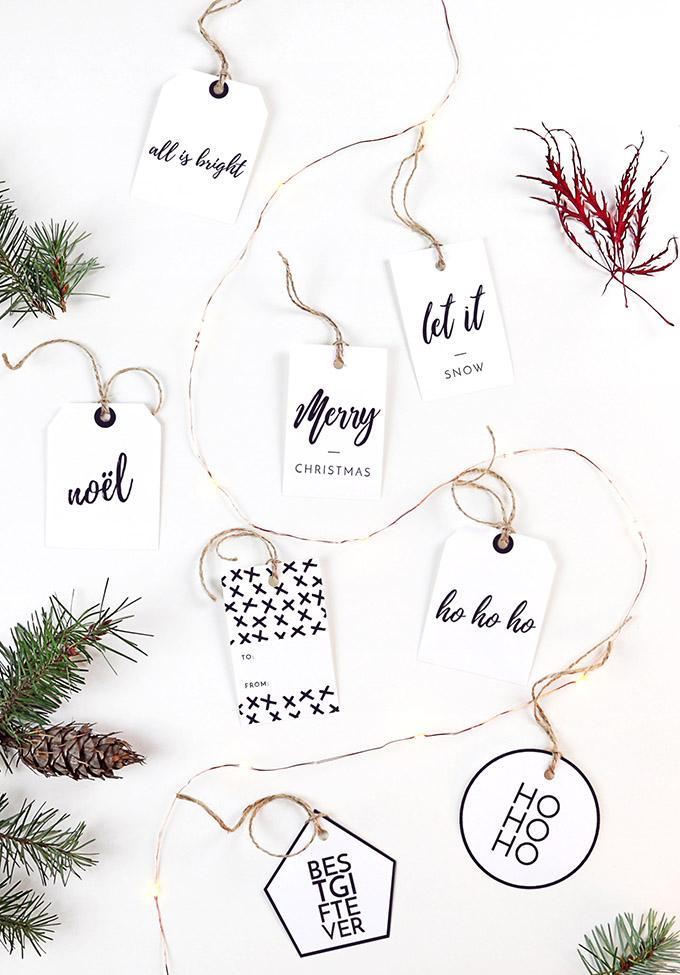 Free Printable Christmas Gift Tags Beautiful And Easy To Make Posh Pennies