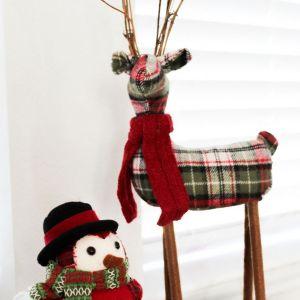 Holidays, Christmas, Farmhouse, Christmas Decor, Reindeer, Owl, Vertical Styled Stock Image