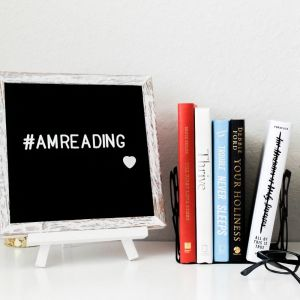Lifestyle, Letterboard, Books, Candle, Succulent, Reading Glasses