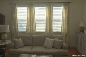 Soft printed line panels on a triple window