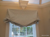 Greek Key Pattern Valance