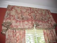 Toile Valances with tassels