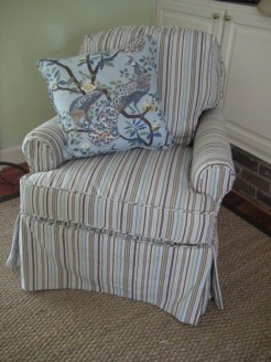 Slipcovered-Chair-in-Siggy-Stripe