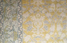graphic-floral-carpet-in-yellow-and-gray